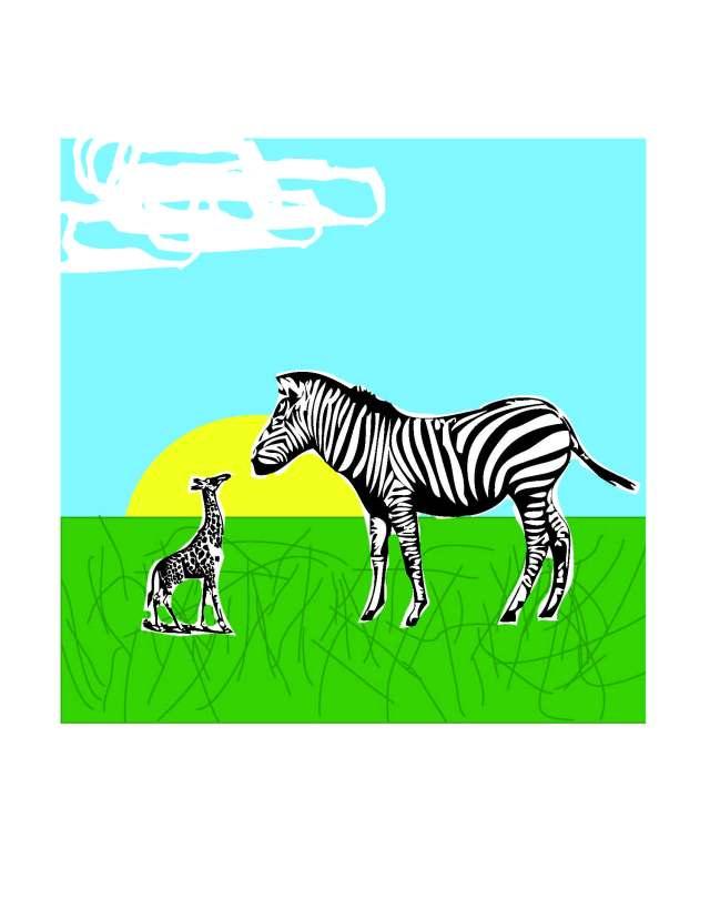 Zebra - Giraffe