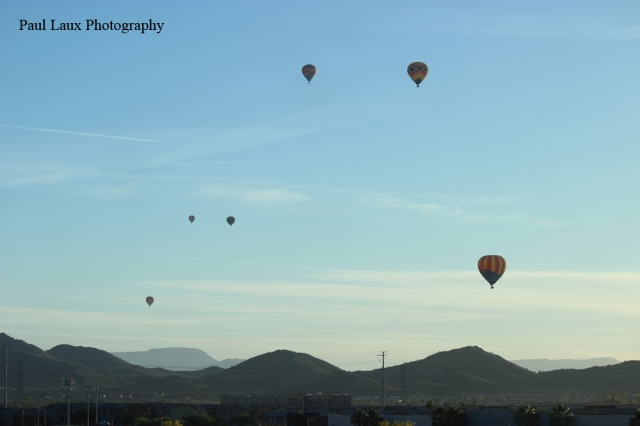Balloons Over Sunrise