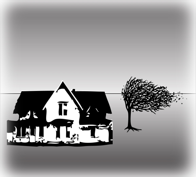 Farmhouse and Tree